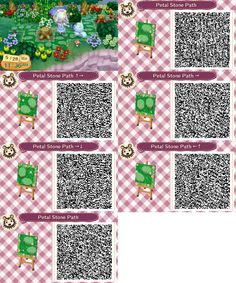 Animal Crossing: New Leaf & HHD QR Code Paths , pollocrossing: spring versions of my mush paths. Animal Crossing Qr Codes, Acnl Paths, Motif Acnl, Brick Path, Stone Path, Ac New Leaf, Happy Home Designer, Tropical, Cute Pattern