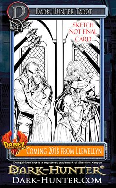 Fun things to share today! This is just the mock-up for the latest Dark-Hunter Tarot deck that Llewllyn press will be releasing next year! The art is so fabulous! I couldn't be more pleased! Selena & Sunshine would definitely approve!