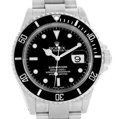 Rolex-Submariner-Black-Dial-Oyster-Bracelet-Steel-Mens-Watch-16610