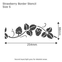 Strawberry Border Stencil - Buy reusable wall stencils online at The Stencil Studio.