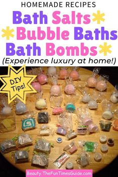 When I became interested in aromatherapy, it wasn't much of a stretch to think about making my own homemade bath products using essential oils. Plus, you can save a lot of money making your own, rather than using storebought kits. Homemade bath soaks make great gifts for Christmas and birthdays too! Here's how to make refreshing bath salts, fizzy bath bombs, and homemade bubble bath. #diygifts #homemade #bath #essentialoils #diyspa #moneysavingtips #bubblebath #spatreatment Bubble Bath Homemade, Homemade Bubbles, Bubble Bath Bomb, Fizzy Bath Bombs, Bubble Baths, Mason Jar Crafts, Mason Jar Diy, Floating Shelves Diy, Mason Jar Lighting