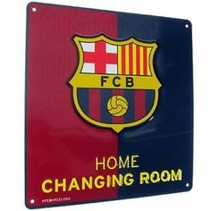 Barcelona FCB Football Club Official Metal Sign Home Changing Room | eBay