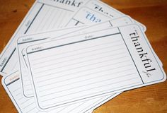 I am thankful journaling cards...