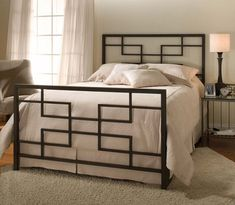 Hillsdale Terrace Bed Set with Rails - King - click to enlarge