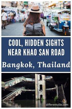 Less-Touristy Things to do Near Khao San Road, Bangkok - Differentville Bangkok Travel Guide, Thailand Travel, Asia Travel, Travel Guides, Travel Tips, Travel Destinations, Abandoned Malls, Khao San Road, Adventure Activities