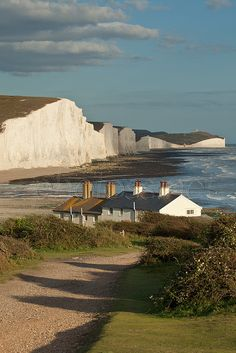 Coastguard Cottages, Seven Sisters, South Downs National Park, East Sussex, England.