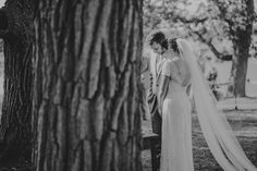 A peak at an outdoor ceremony between two Oak trees. #outdoorceremony #ThePavilion #photoenvy