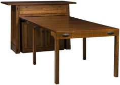 Rosales Kitchen Island Table extended