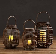 Balinese Lantern the large one will do nicely as a hanging ceiling lamp using twine or rope.