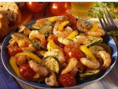 Low Carb Recipes - Scampi Vegetable Pan Source by No Carb Recipes, Clean Recipes, Healthy Recipes, Recipes From Heaven, Grilling Recipes, I Love Food, Soul Food, Clean Eating, Food Porn