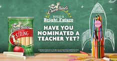 Submit a short video or essay to nominate a teacher in the Frigo® Cheese Heads® Build a Bright Future contest by visiting the CheeseHeadsBrightFuture site today. Cooking Tofu, Cooking With Kids, Cooking Turkey, Cambells Recipes, Cooking Venison Steaks, Best Cooking Oil, Spring Into Action, How To Cook Asparagus, Cooking Classes