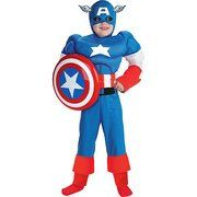 Marvel Captain America Muscle Child Halloween Costume M(7-8) - Click image twice for more info - See a larger selection of kids halloween costume at http://costumeriver.com/product-category/kids-halloween-costumes/ -  holiday costume , event costume , halloween costume, cosplay costume, classic costume, scary costume, super heroes costume, classic costume, clothing