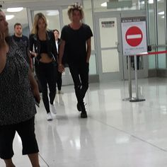 Alexis and Jay spotted in LAX airport yesterday