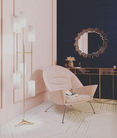 Bedroom on Behance Room Ideas Bedroom, Home Decor Bedroom, Living Room Decor, Salon Interior Design, Room Interior, Home Room Design, Living Room Designs, House Rooms, Room Colors