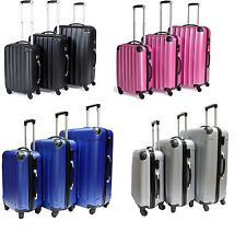 Hard Shell 4 Wheel Spinner Suitcase Set Luggage Trolley Case Cabin Hand 4COLOUR