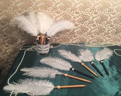 25 Feather Pen Favors Great Gatsby Wedding Party Guest Favors Roaring 20s 1920s…