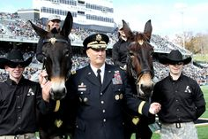 General Ray Odierno, Chief of Staff of the Army  Nov 3, 2012.  Cadet 2013 (on Left) was lead Mule Rider.