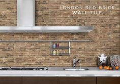 Luxury kitchen modern kitchen wall tiles design faux exposed brick tiles african home decorations for cheap Kitchen Wall Tiles Design, Brick Wall Kitchen, Old Brick Wall, Kitchen Tiles, Tile Design, Interior Design Kitchen, Interior Ideas, Brick Effect Wall Tiles, Brick Tiles