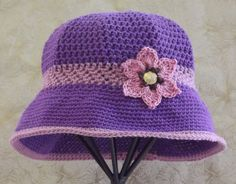 Womens Purple Sun Hat        Vintage Inspired       by SophiesHats, $30.00
