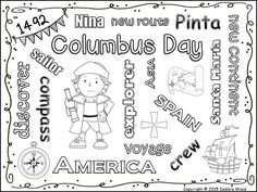 Columbus Day Worksheets for Kids Columbus Day Word Puzzle