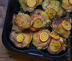 CIBO VINO E PAROLE ...: Pollo arrosto con clementine