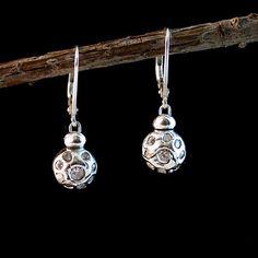 Fine Silver Small Bud Earrings