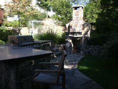Knapp & Associates, landscape architecture, landscape design, kitchen and pizza oven/chimney