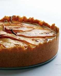 Something says this Maple Cheesecake with Roasted Pears would disappear fast! #seasonseatings @Martha Stewart