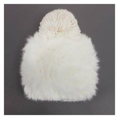 Yoins Yoins Fluffy Bobble Beanie ($14) ❤ liked on Polyvore featuring accessories, hats, white, bobble beanie, white hat, white fur hat, pom pom hat and fur hat