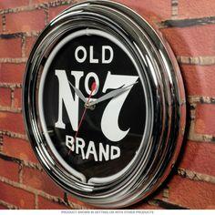 Jack Daniels Old No.7 Logo Neon Clock | Game Room Clocks | RetroPlanet.com