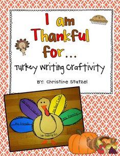 Turkey Writing Craftivity