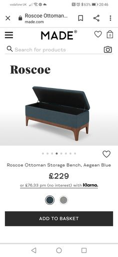 Storage Ottoman Bench, Lounge, Blue, Furniture, Home Decor, Airport Lounge, Drawing Rooms, Decoration Home, Room Decor