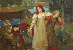 Art Blog: Charles Hodge Mackie : There Were Three Maidens Pu'd a Flower 1897