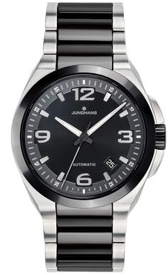 @junghansgermany  Watch Spektrum Automatic #bezel-fixed #bracelet-strap-steel #brand-junghans #case-depth-11-6mm #case-material-steel #case-width-41-6mm #classic #date-yes #delivery-timescale-call-us #dial-colour-black #gender-mens #movement-automatic #new-product-yes #official-stockist-for-junghans-watches #packaging-junghans-watch-packaging #style-dress #subcat-spektrum #supplier-model-no-027-1500-44 #warranty-junghans-official-2-year-guarantee #water-resistant-100m