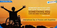 On this day, we celebrate the achievements of people with disability and applaud their determination to win against all odds. Let us actively strive to provide them equal rights and reinforce their self-belief. #InternationalDayofPersonswithDisabilities #StatebankofIndia #StateBank #SBI