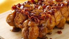 Brown sugar, bacon and cayenne pepper give this monkey bread a delicious sweet and spicy caramelized flavor.