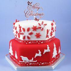 Новогодний торт с оленями