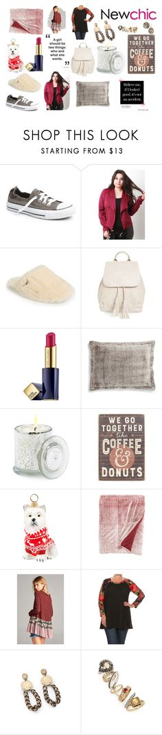 """""""New Chic"""" by knittedbelleboutique ❤ liked on Polyvore featuring Converse, UGG, BP., Estée Lauder, Pem America, Archipelago Botanicals, Primitives By Kathy, Joy To the World, Topshop and L. Erickson"""