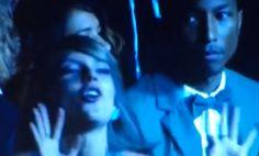 "Pharrell Staring at Taylor Swift's Grammy Dancing Like ""R U Kidding Me"""