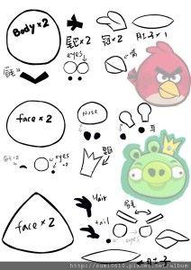 Molde de Fieltro de Angry Birds