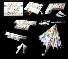 Paper  Umbrella Kids Crafts, Daycare Crafts, Preschool Crafts, Projects For Kids, Diy For Kids, Art Projects, Diy And Crafts, Arts And Crafts, Autumn Crafts