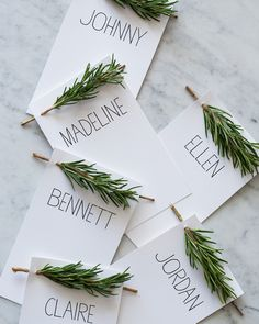 The easiest-ever DIY place cards holidays