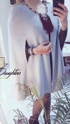 "نازكة "" أنا لولا جمال عيونه ماستهواني حب "" العيون Style Fête, Mode Style, Arab Fashion, Love Fashion, Fashion Design, Caftan Gallery, Moroccan Caftan, Poncho, Traditional Fashion"