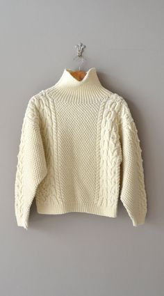 Polar Cap sweater / cropped cable knit sweater / by DearGolden, $36.00