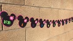 Minnie Mouse luau 12 month banner 12 month by AandNBannerCreations
