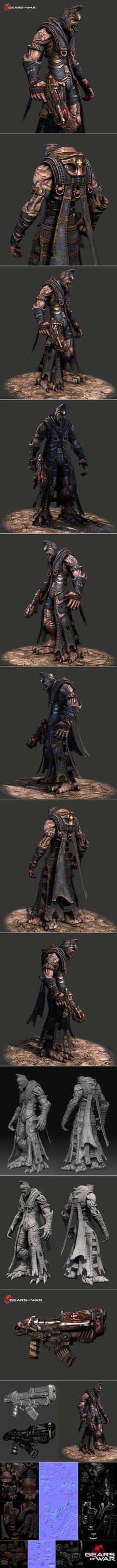 Gears of war 'Kantus Priest' by doombadoomba.deviantart.com on @DeviantArt