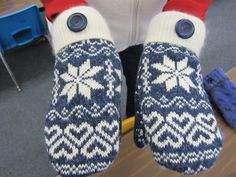 The DIY Sweater Mitten Making Mansion and Tutorial: A Blast From the Past: 2012   The Renegade Seamstress Renegade Seamstress, Work Boot Socks, Sweater Mittens, Knit Sneakers, Cool Sweaters, Some Pictures, Refashion, The Past, Mansions