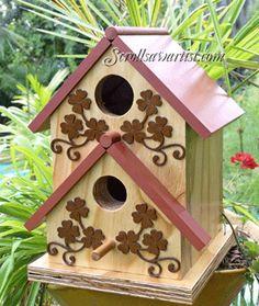 Scroll Saw Patterns :: Miscellaneous :: Birdcages & Birdhouses :: Birdhouse #3 -