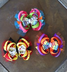 Back to school hair bows!! Check out forever chic BOWtique on Facebook!  $7