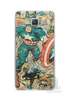 Capa Capinha Samsung A7 2015 Capitão América Comic Books #1